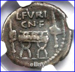 Roman Republic L. Fur. Brocchus AR Denarius Coin 63 BC Certified NGC Fine