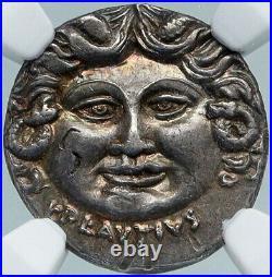 Roman Republic MEDUSA & AURORA Ancient Silver Roman 47BC Rome Coin NGC i88366