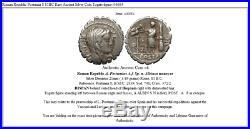 Roman Republic Postumia 8 81BC Rare Ancient Silver Coin Togate figure i46684