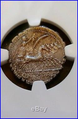 Roman Republic Q. Ant. BALBUS Denarius Serratus NGC MS 5/5 Ancient Coin