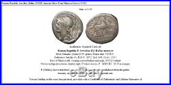 Roman Republic Servilius, Rullus 100BC Ancient Silver Coin Minerva Horse i45463