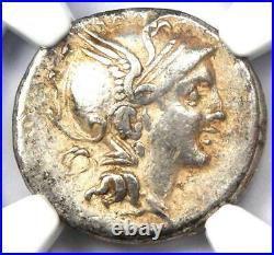 Roman Republic T. Ma. Mancius AR Denarius Coin 111 BC Certified NGC Choice VF