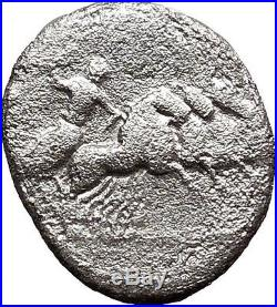Roman Republic Vergilius 86BC Silver Ancient Coin Apollo Horse Jupiter i32380