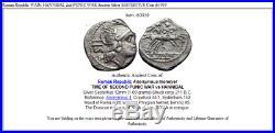Roman Republic WARv HANNIBAL 2nd PUNIC WAR Ancient Silver SESTERTIUS Coin i63939