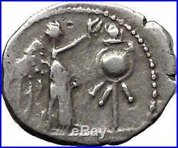 Roman Republic WIN vs HANNIBAL 2nd PUNIC WAR 88BC Ancient Silver Coin i55465