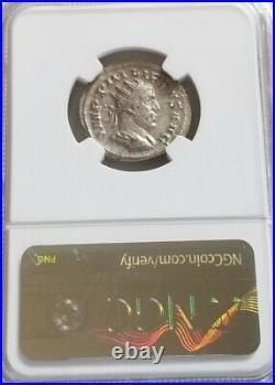 Roman Saecular Games Philip I Double-Denarius NGC AU Ancient Silver Coin