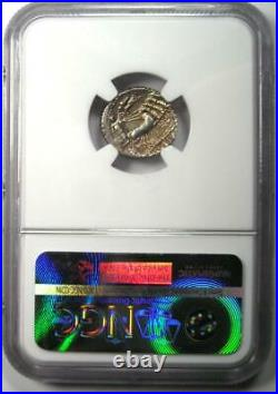 Roman Sulla L. Man Torquatus AR Denarius Coin 82 BC Certified NGC AU Rare