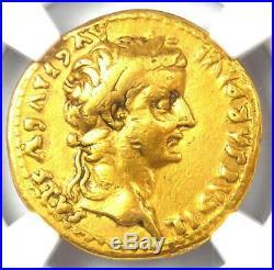 Roman Tiberius Gold AV Aureus Livia Coin 14-37 AD Certified NGC VF Rare