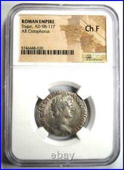 Roman Trajan AR Cistophorus Silver Coin 98-117 AD Certified NGC Choice Fine