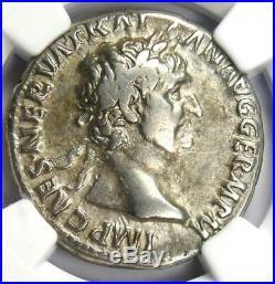 Roman Trajan AR Cistophorus Silver Coin 98-117 AD Certified NGC VF (Very Fine)