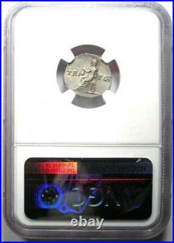 Roman Vespasian AR Denarius Silver Coin 69-79 AD. Certified NGC AU
