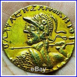 Roman ancient high carat Gold unique greek king coin 12 grams 24mm # 11