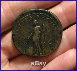 SCARCE Ancient Roman Coin Sestertius TRAJAN 116-117AD PROVIDENTIA RIC663 6.5g