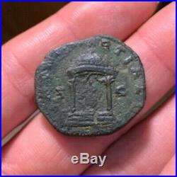 SCARCE Ancient Roman Coin Sestertius VOLUSIAN 251-253AD JUNO TEMPLE RIC253 17.2g