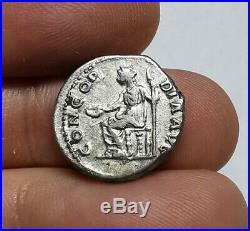 SCARCE Ancient Roman Imperial Sabina 136 AD Silver Denarius Coin