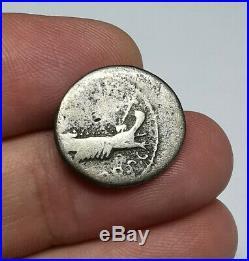 SCARCE Ancient Roman Mark Antony Silver Legionary LEG XII Denarius Coin 32-31BC