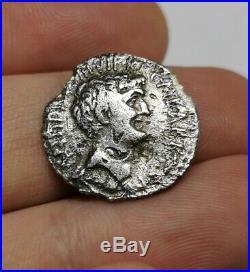 SCARCE Ancient Roman Republic M Antonius & Octavianus 39 BC Silver Denarius Coin