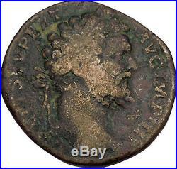 SEPTIMIUS SEVERUS 194AD Sestertius THREE MONETAE Ancient Roman Coin i42073