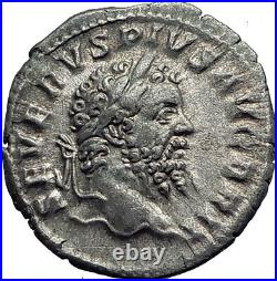 SEPTIMIUS SEVERUS British Victory Over Britain Ancient Silver Roman Coin i63921