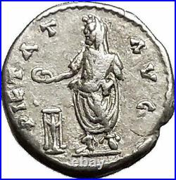 SEPTIMIUS SEVERUS sacrificing RARE Emesa mint Ancient Silver Roman Coin i39522