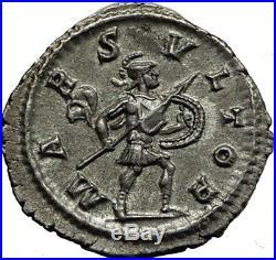 SEVERUS ALEXANDER -232AD Rome Authentic Ancient Silver Roman Coin MARS i65410