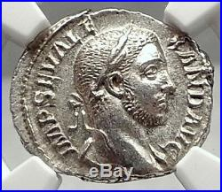 SEVERUS ALEXANDER Authentic Ancient Silver 229AD Rome Roman Coin NGC MS i72936