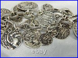 SILPADA Sterling Silver Iconic Ancient Roman Coin Cha Cha Bracelet B1624 Retired