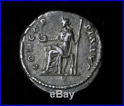 Sabina 137 AD Hadrian Silver Denarius Ancient Roman Coin Concordia 2.6 gr #AC062