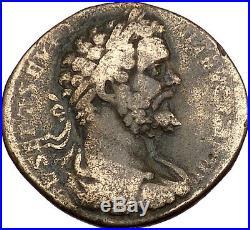 Septimius Severus 194AD Big Sestertius Authentic Ancient Roman Coin ROMA i41938