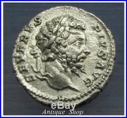 Septimius Severus Denarius 193-211 ADPERFECT DETAILSAncient Roman Silver Coin