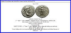 Septimius Severus Emesa mint Ancient Silver Roman Coin Mars Cult War i39700
