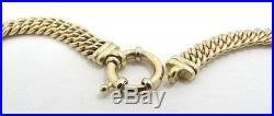Solid 14K Y Gold Heavy Tight Curb Link Ancient Roman Coin 17.5 Necklace A245