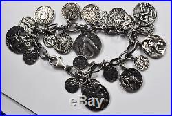 Sterling Silpada B1624 21 Ancient Roman Coin Replica Charm Cha Cha Bracelet 8