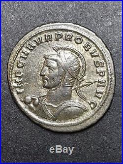 Super High Grade Probus AE Silvered Antoninianus. Ancient Roman Imperial Coin