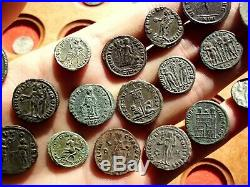 Superb Lot Of 21 Cleaned Ancient Roman Imperial Coins Outstanding Lot