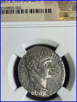 Syria, Antioch NERO Tetradrachm NGC Ch VF Ancient Silver Coin Roman, Strike 5/5