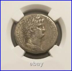Syria, Antioch NERO Tetradrachm NGC VF Ancient Silver Coin Roman