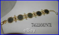 TAGLIAMONTE(1133)Ancient Roman Coin Column BraceletYGP9255 Coins+Rubies+Pearls