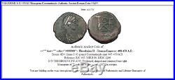 THEODOSIUS II 445AD Monogram Constantinople Authentic Ancient Roman Coin i44254