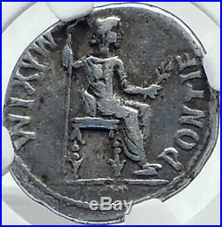 TIBERIUS Ancient Silver BIBLICAL Roman Jesus Christ RENDER CAESAR Coin NGC