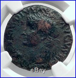 TIBERIUS Authentic Ancient 35AD Genuine Original Rome Roman Coin NGC i80911