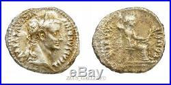 TIEERIUS. Tribute Penny of Jesus Ancient Roman Silver Denarius Coin 15 AD