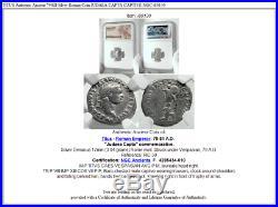 TITUS Authentic Ancient 79AD Silver Roman Coin JUDAEA CAPTA CAPTIVE NGC i80130