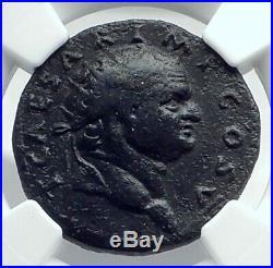 TITUS as Caesar Vespasian 76AD Rome Dupondius Ancient Roman Coin NGC i77646