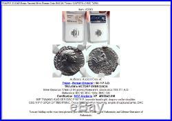 TRAJAN 103AD Rome Ancient Silver Roman Coin DACIA Victory CAPTIVE i NGC 72061