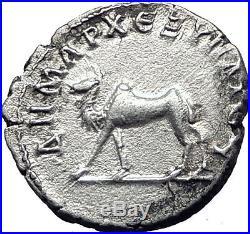 TRAJAN 114AD Bostra Arabia Authentic Ancient Silver Roman Coin CAMEL Rare i63370