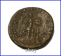 TRAJAN 98-117AD AE AS Authentic Ancient Roman Coin RIC 529 EF DETAILS