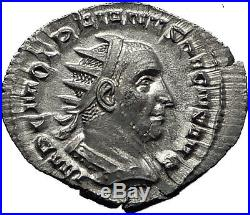 TRAJAN DECIUS 249AD Rome DACIA DRACO Authentic Ancient Silver Roman Coin i60347