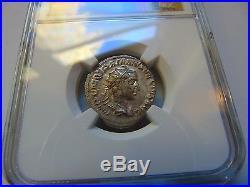 TRAJAN DECIUS Roman Empire 249-251 NGC AU Silver Double Denarius Ancient Coin