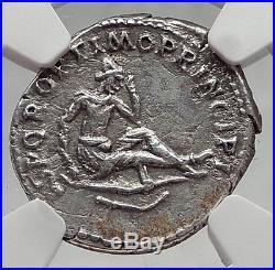 TRAJAN victory vs DACIA 103AD Ancient Silver Roman Denarius Coin Rome NGC i62051
